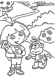 dora coloring pages index