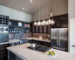 Black Kitchen Lights Kitchen Modern Glass Lighting Kitchen Decor With L Shape Black