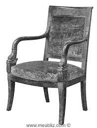 fauteuil ancien style anglais fauteuil empire à accoudoir courbé et tête de dauphin meuble de