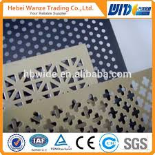 4x8 Colored Decorative Metal Sheets hexagonal Perforated Metal