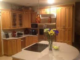 paint or replace oak cabinets with wood trim counters kitchen paint or replace oak cabinets with wood trim image jpg