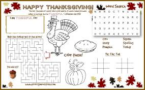 free thanksgiving printable u0026 cute ideas kids table