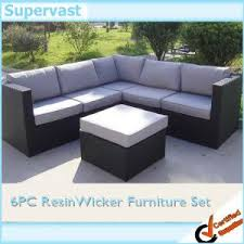 Dark Wicker Patio Furniture by Resin Wicker Patio Furniture Outdoor Sectional Sofa Set With Dark