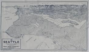 Map Of Lake Washington by Enchanted Valley Arts