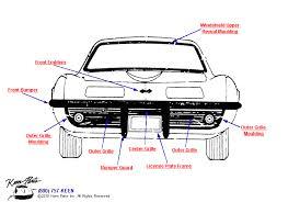 1978 corvette front bumper 1978 corvette grille front mouldings parts parts accessories