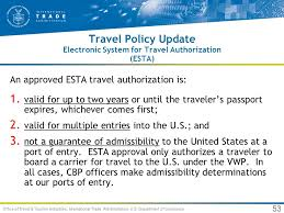 Electronic System For Travel Authorization images Travel trends for usa and utah an international perspective ppt jpg