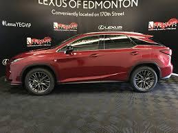 lexus rx edmonton pre owned 2017 lexus rx 350 demo unit f sport series 2 4 door
