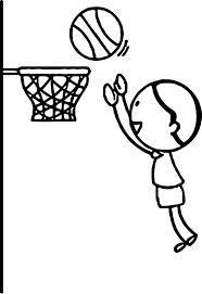 boy playing basketball jumping to hoop playing basketball coloring