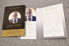 Funeral Program Sample Funeral Program Template Bi Fold Brochure Templates Creative