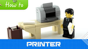 How To Build A Office Desk by How To Make A Lego Small Office Printer Moc Basic Youtube