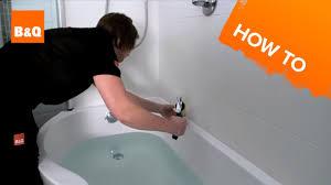 B Q Bathroom Showers How To Seal A Bath Youtube