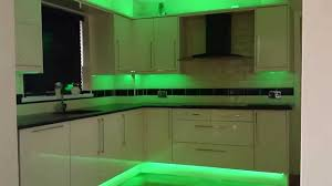 Kitchen Tv Under Cabinet by Kitchen Led Strip Lights Youtube