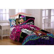 monster high bedroom sets monster high all ghouls allowed bed in bag bedding set walmart com