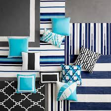 Navy And White Outdoor Rug Strata Stripe Indoor Outdoor Rug Navy Williams Sonoma