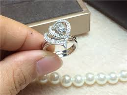love rings designs images Wholesale latest design 0 5ct heart promise love synthetic diamond jpg