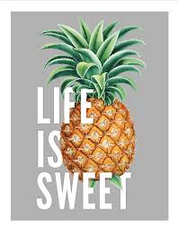 Pineapple Home Decor by Vintage Pineapple Typography Print Life Is Sweet Nursery Art