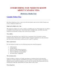 ideas of sample cover letter for immigration application canada