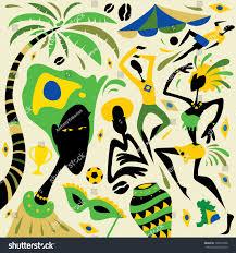 Dancing Flags Brazil Illustration Flag Carnival Dance Rio Stock Vector 198501698