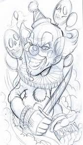 clown tattoo drawing designs evil jester ii by markfellows ink