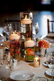 Floating Candle Centerpieces by Floating Candle Wedding Centerpiece With Submerged Flowers And