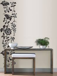 Bedroom Wall Stickers Uk Black Floral Wall Art Sticker Kit
