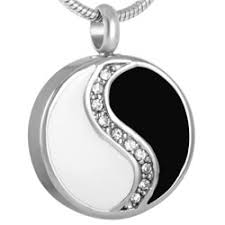pendant for ashes cremation pendant that holds ashes necklace yin yang pendant