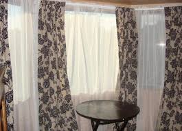 dining amazing floral dining room curtains for triple windows