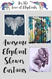 13 elephant shower curtains you u0027ll never forget elephant shower