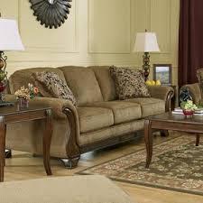 nebraska furniture mart u2013 ashley autumn brown microfiber sofa only
