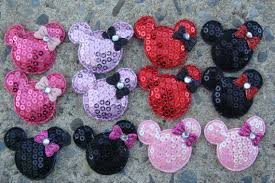 12 minnie mouse sequin heads hair bow center craft supplies from