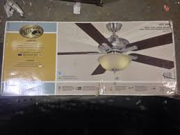 hton bay brushed nickel ceiling fan hton bay al420 bn larson 52 in brushed nickel ceiling fan pppzae