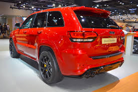 jeep cherokee yellow jeep grand cherokee trackhawk displayed at dubai motor show 2017