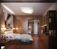 good bedroom ideas with beautiful artistic painting and wooden