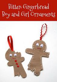 the cutest half eaten gingerbread ornaments gingerbread
