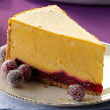 thanksgiving cranberry recipe pumpkin cranberry cheesecake recipe taste of home
