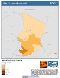 Cameroon Africa Map by Maps Population Density Grid V3 Sedac