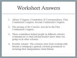 Declaration Of Independence Worksheet Answers Causes Of The Revolution Social Studies Unit 5 Lesson Ppt