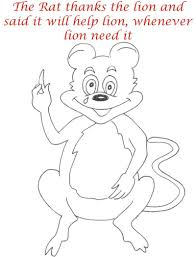 rat thanks lion coloring page for kids