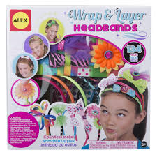 Polyester Flowers - alex toys craft wrap and layer headbands alexbrands com