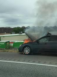 subaru fire vehicle fire on interstate 15 destroys car disrupts traffic u2013 st