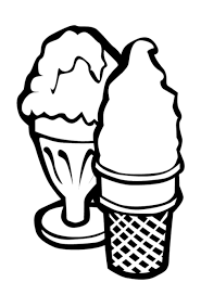 ice cream coloring pages free foods coloring pages of