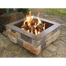 Propane Fire Pit Burners Fire Pit Awesome Square Gas Fire Pit Design Rustic Patio Low