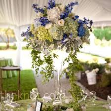 white green and blue centerpieces