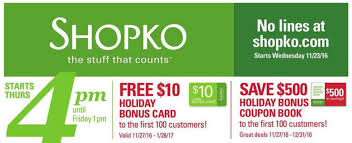 black friday christmas card deals shopko black friday deals 2016 full ad scan the gazette review