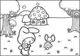 my melody coloring pages wecoloringpage