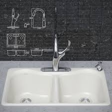 kitchen faucet and sink kohler 3d cgtrader