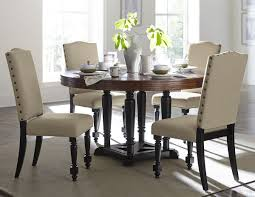 Round Dining Room Tables Homelegance Blossomwood 5404 54 Cherry Black Round Dining Set