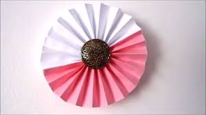 paper craft for home decoration room decor ideas how to make paper rosettes flowers 5 minute