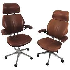 midcentury style ergonomic leather swivel desk chair at 1stdibs