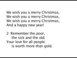 we wish you a merry lyrics